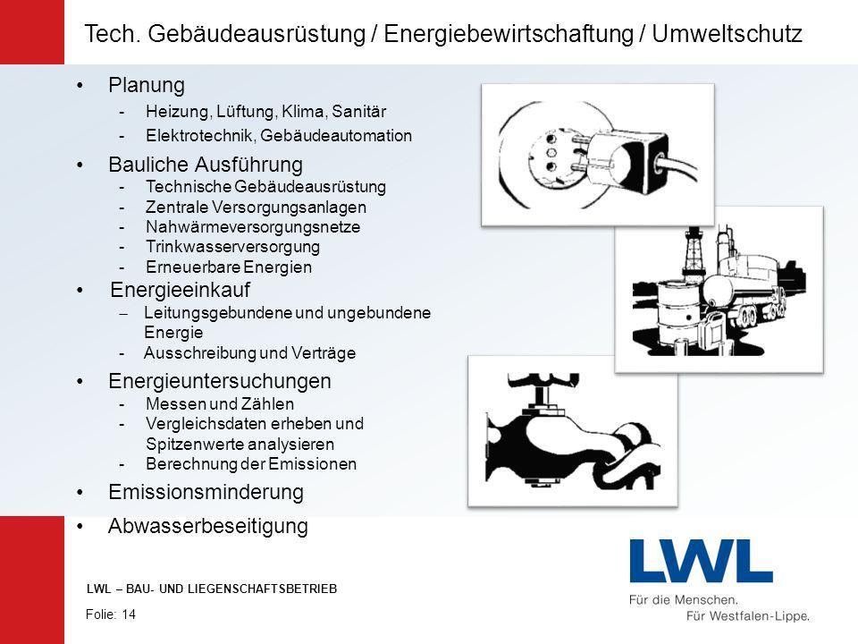 Planung -Heizung, Lüftung, Klima, Sanitär -Elektrotechnik, Gebäudeautomation Bauliche Ausführung -Technische Gebäudeausrüstung -Zentrale Versorgungsan