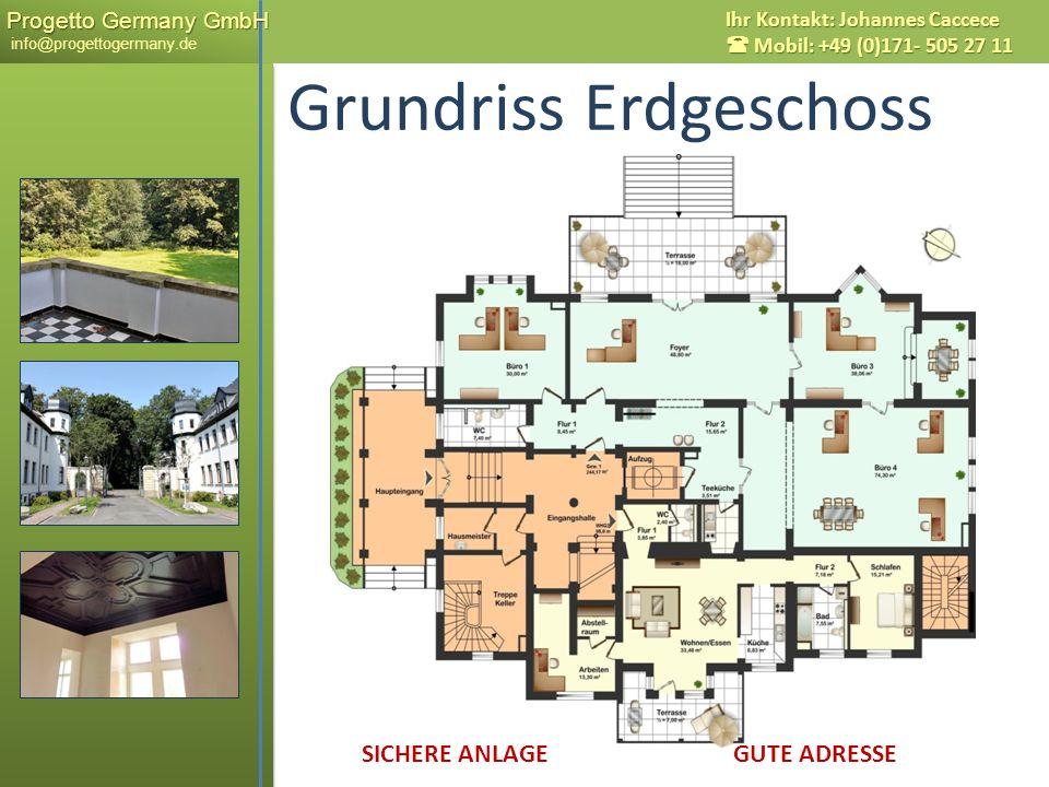 Progetto Germany GmbH Progetto Germany GmbH info@progettogermany.de Ihr Kontakt: Johannes Caccece Mobil: +49 (0)171- 505 27 11 Grundriss Erdgeschoss S