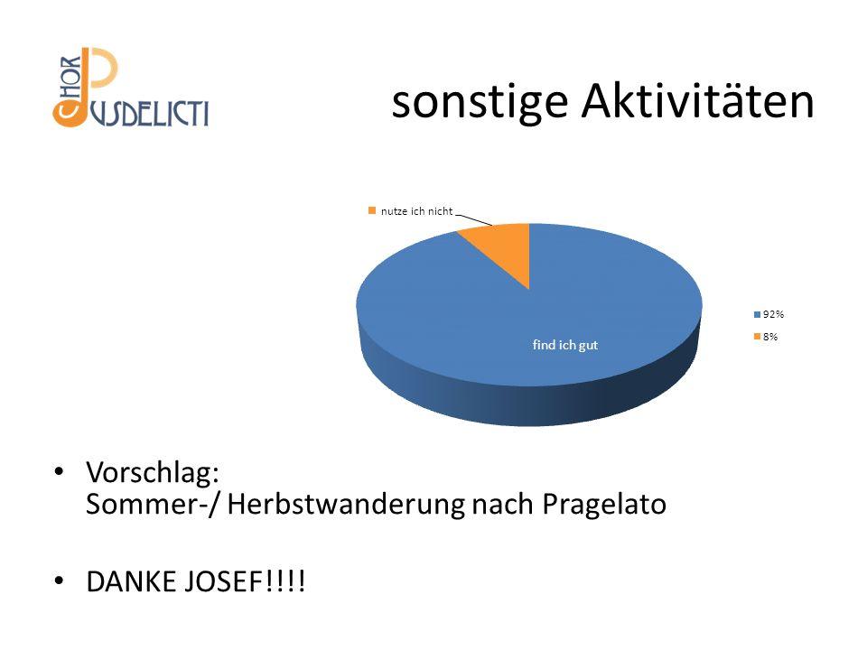 sonstige Aktivitäten Vorschlag: Sommer-/ Herbstwanderung nach Pragelato DANKE JOSEF!!!!