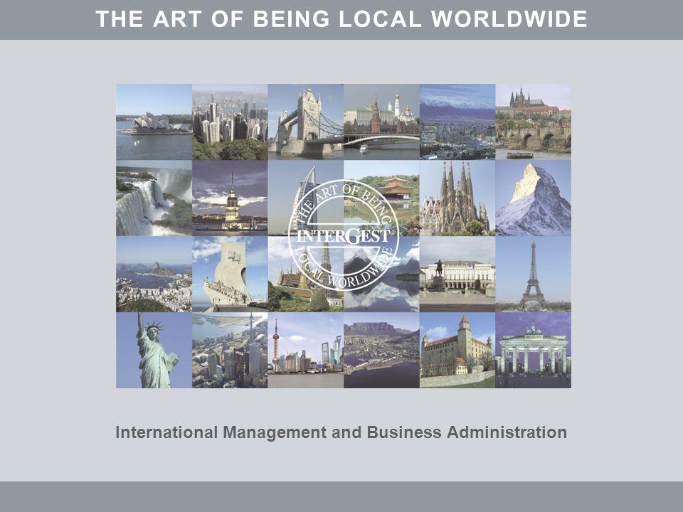 www.intergest.com InterGest THE ART OF BEING LOCAL WORLDWIDE In Frankreich investieren