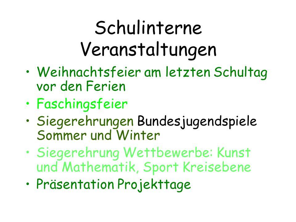 AG Angebote im laufenden Schuljahr (1.