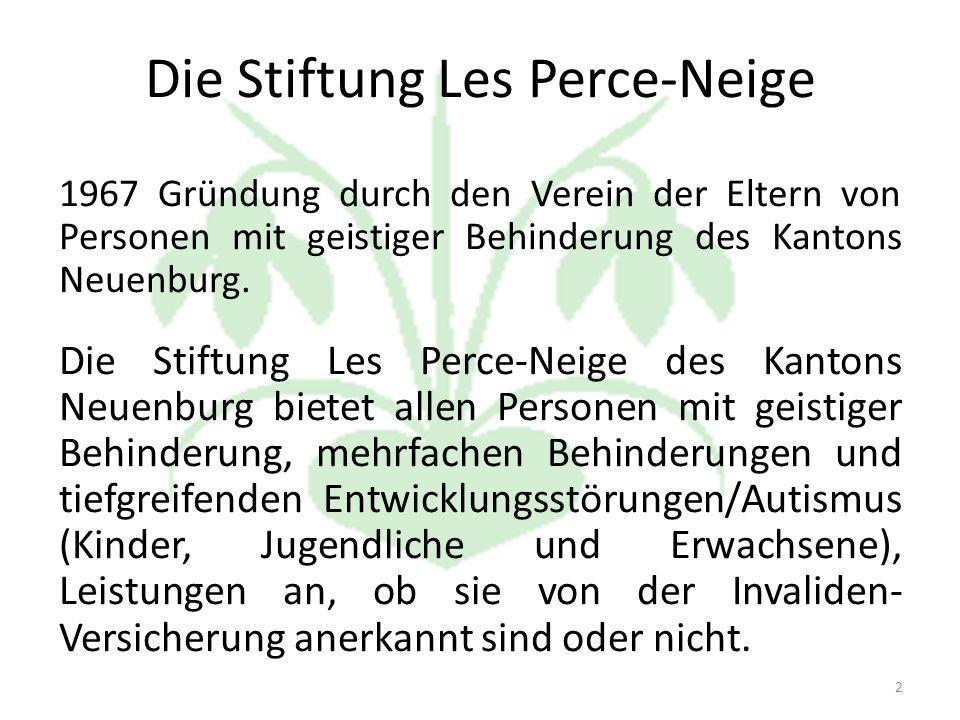 Die Stiftung Les Perce-Neige 1967 Gründung durch den Verein der Eltern von Personen mit geistiger Behinderung des Kantons Neuenburg.