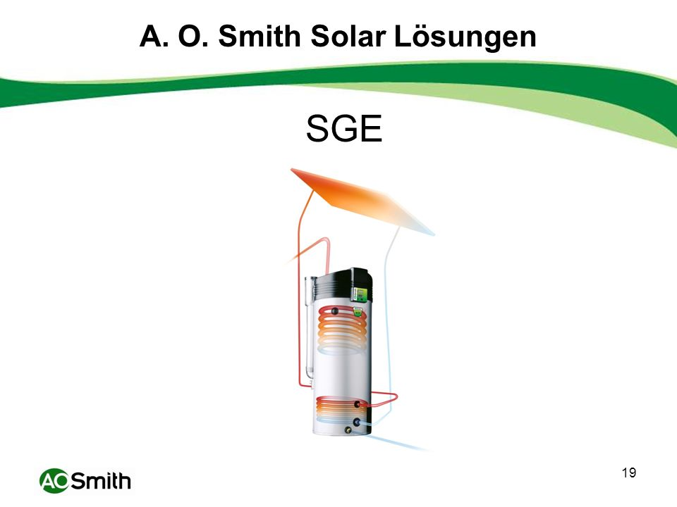 19 A. O. Smith Solar Lösungen SGE