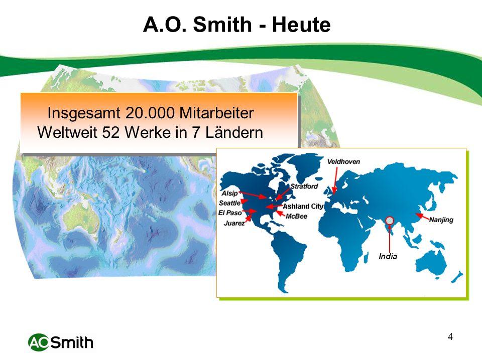 5 A.O.Smith emaillierte Speicher A.O.