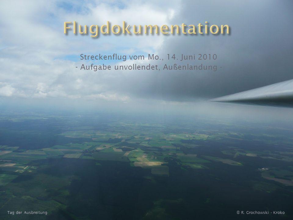 Streckenflug vom Mo., 14.Juni 2010 - Aufgabe unvollendet, Außenlandung - © R.
