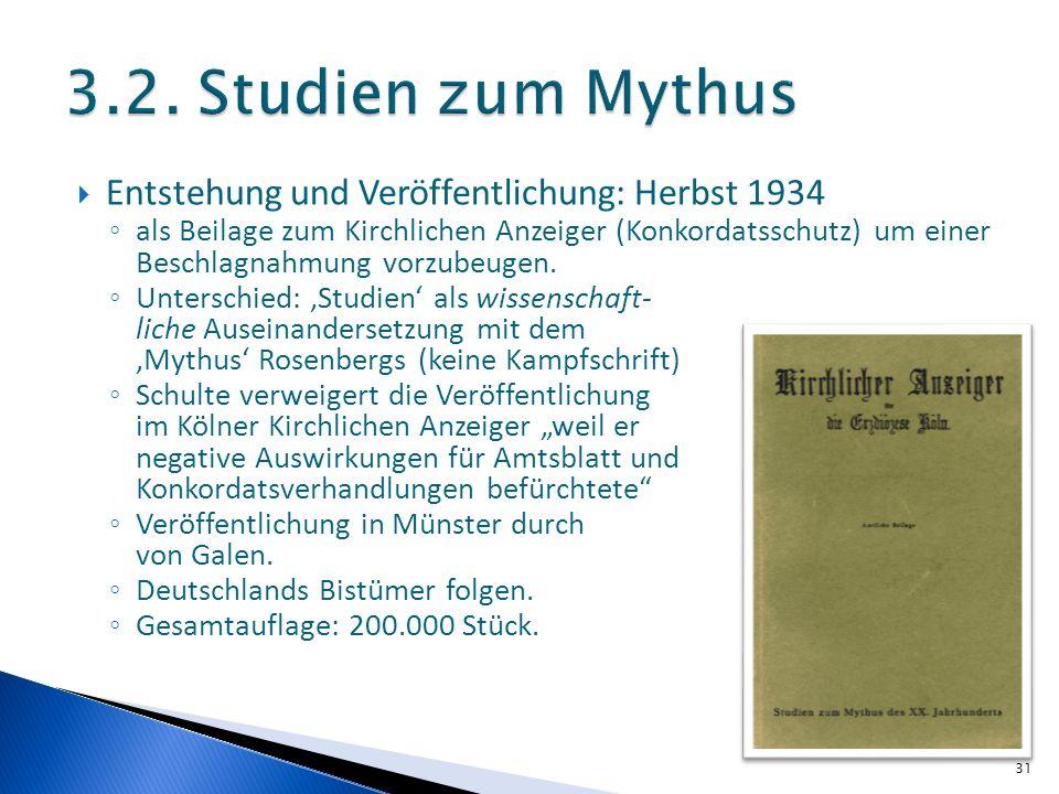 Entstehung und Veröffentlichung: Herbst 1934 als Beilage zum Kirchlichen Anzeiger (Konkordatsschutz) um einer Beschlagnahmung vorzubeugen. Unterschied