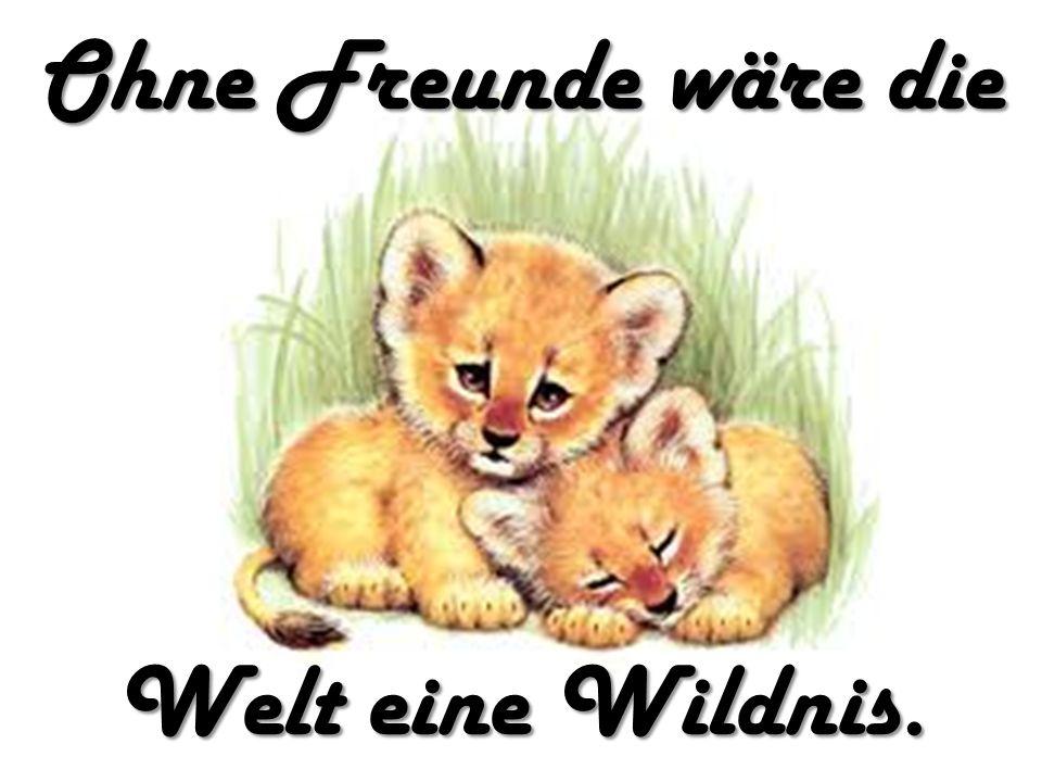 Ohne Freunde wäre die Welt eine Wildnis.