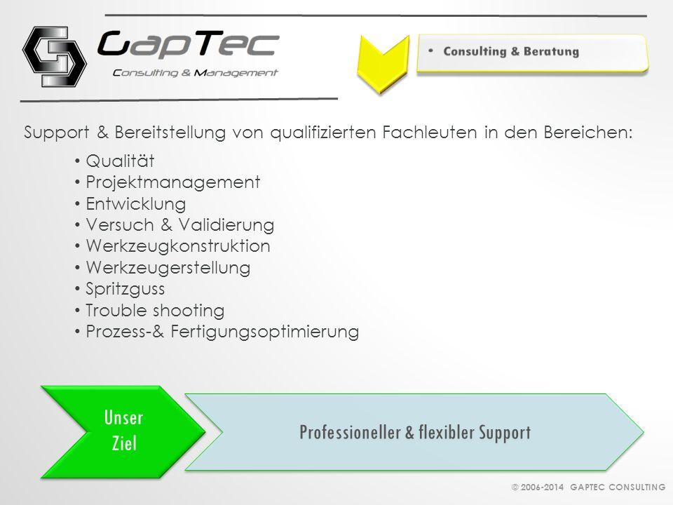 Unser Ziel Professioneller & flexibler Support Qualität Projektmanagement Entwicklung Versuch & Validierung Werkzeugkonstruktion Werkzeugerstellung Sp