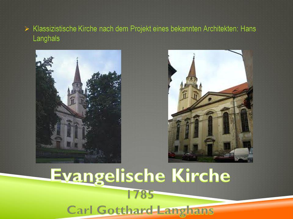 Klassizistische Kirche nach dem Projekt eines bekannten Architekten: Hans Langhals