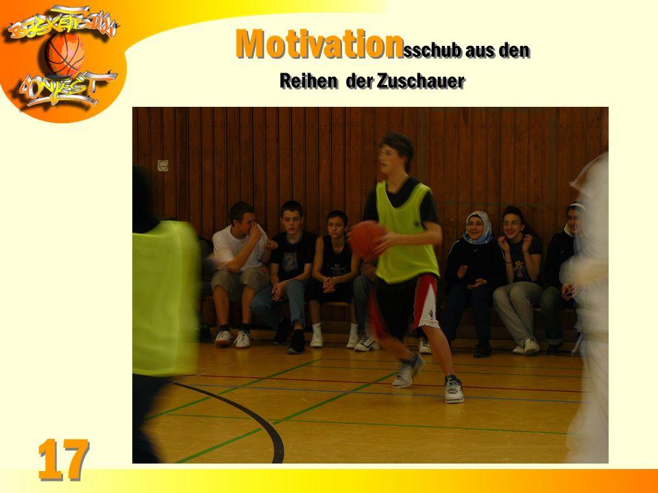 Motivation sschub aus den Reihen der Zuschauer Motivation sschub aus den Reihen der Zuschauer 17