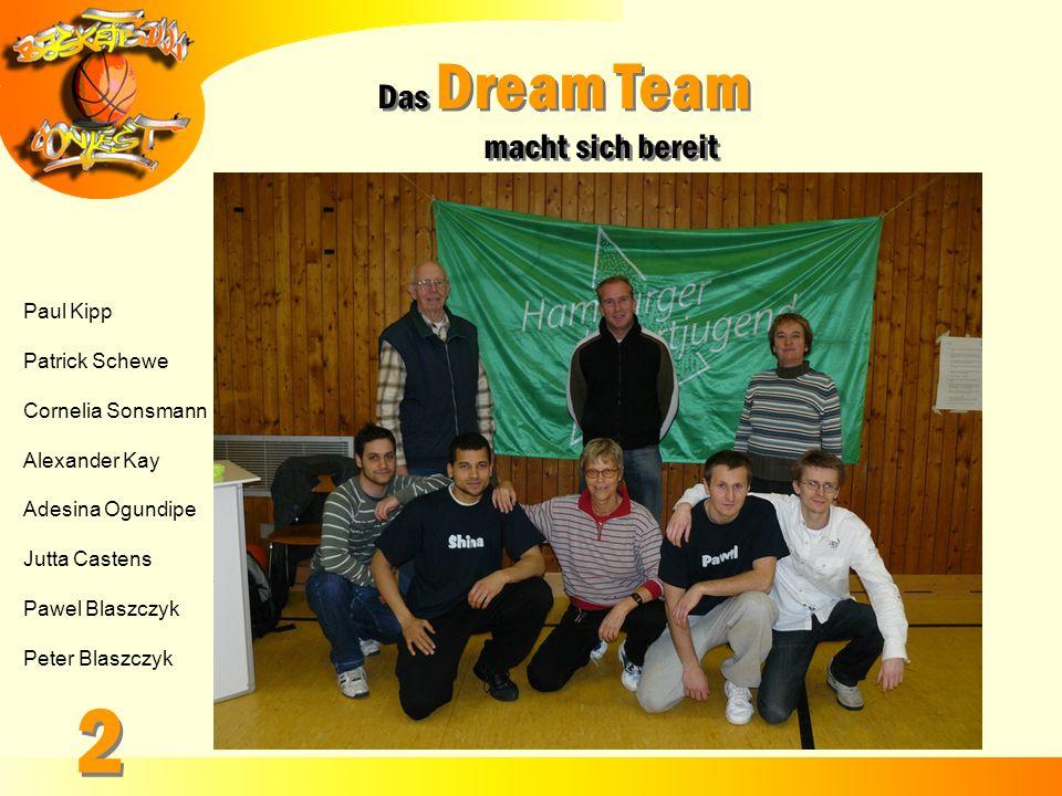 Das Dream Team macht sich bereit Das Dream Team macht sich bereit Paul Kipp Patrick Schewe Cornelia Sonsmann Alexander Kay Adesina Ogundipe Jutta Cast