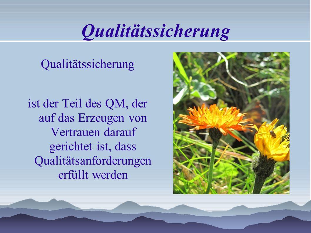 Qualitätslenkung ist der Teil des QM, der auf die Erfüllung von Qualitätsanforderungen gerichtet ist. DIN EN ISO 9000:2005 Vorbeugend Überwachend Korr
