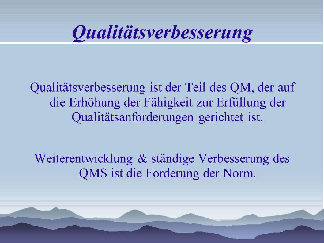 Qualitätssicherung ist der Teil des QM, der auf das Erzeugen von Vertrauen darauf gerichtet ist, dass Qualitätsanforderungen erfüllt werden