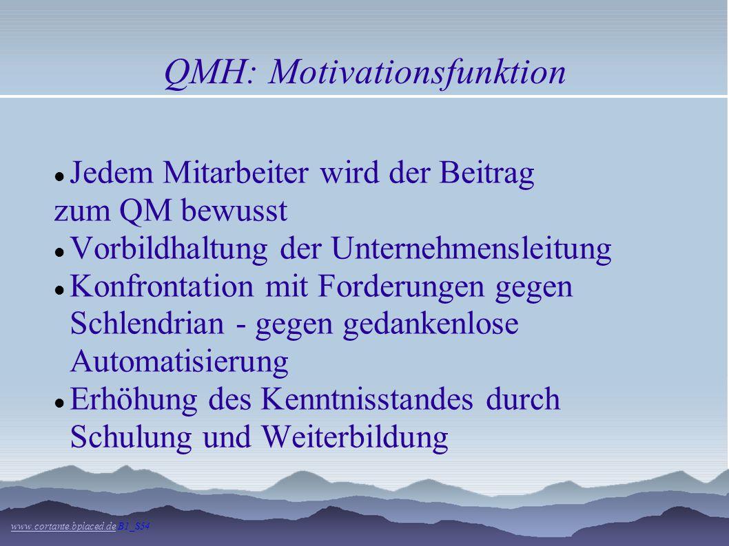 QMH: Führungs- und Leitungsfunktion www.cortante.bplaced.dewww.cortante.bplaced.de B1_S54 Die Führungsfunktion ermöglichst eine effektive Realisierung