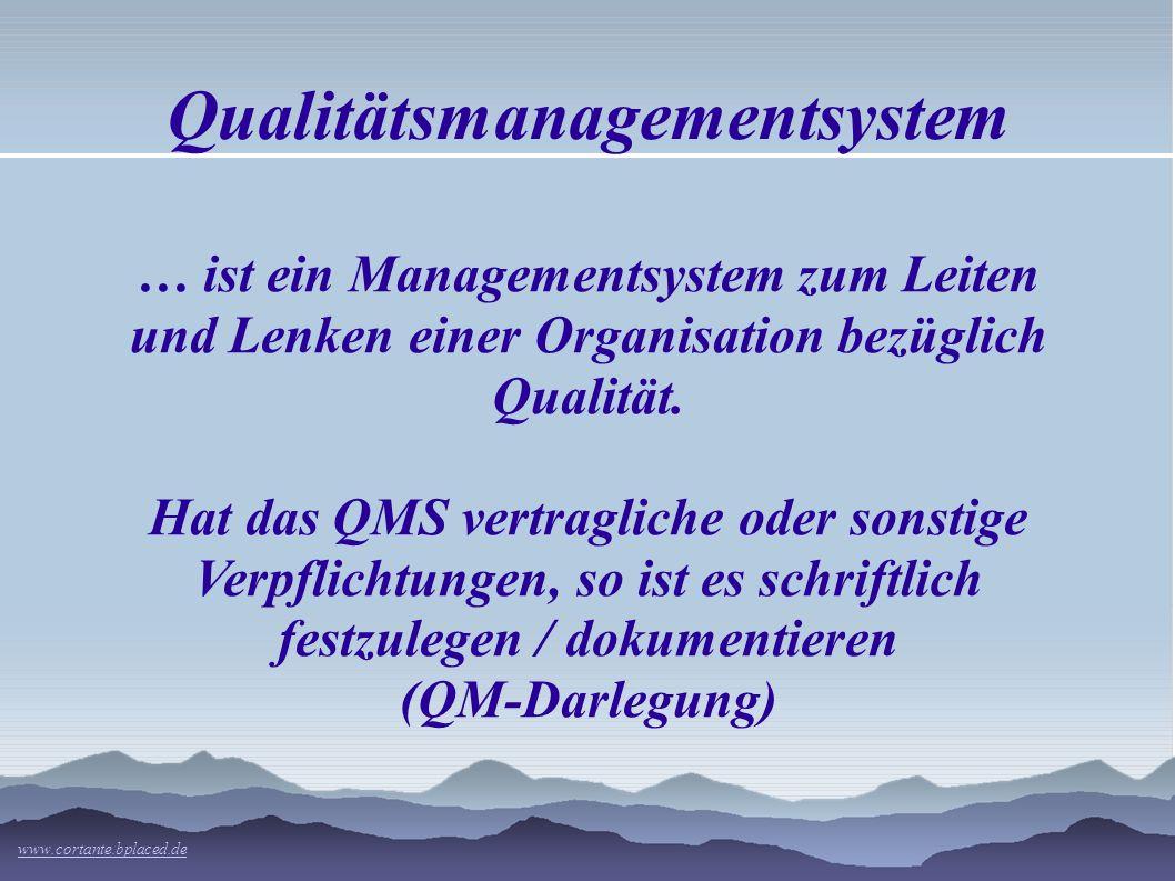 Qualitätsmanagementsystem … ist ein Managementsystem zum Leiten und Lenken einer Organisation bezüglich Qualität.