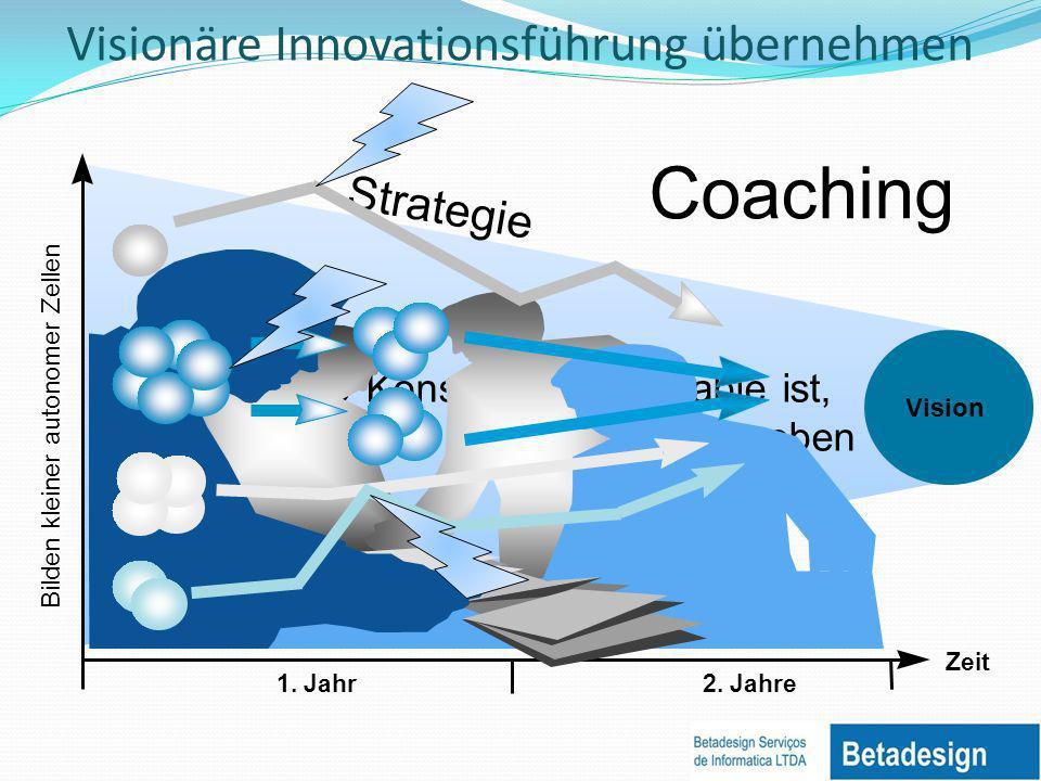 Standards Strategie Da die einzige Konstante die Variable ist, kann nur die Vision die Richtung vorgeben Visionäre Innovationsführung übernehmen Zeit 1.