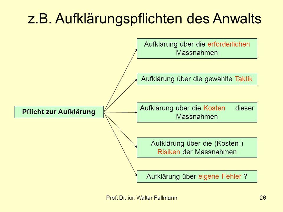 Prof.Dr. iur. Walter Fellmann26 z.B.