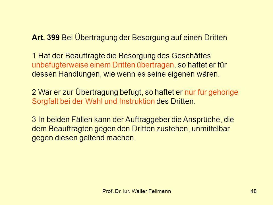 Prof.Dr. iur. Walter Fellmann48 Art.
