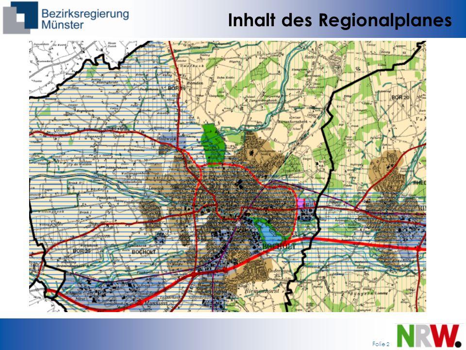 Folie 2 Inhalt des Regionalplanes