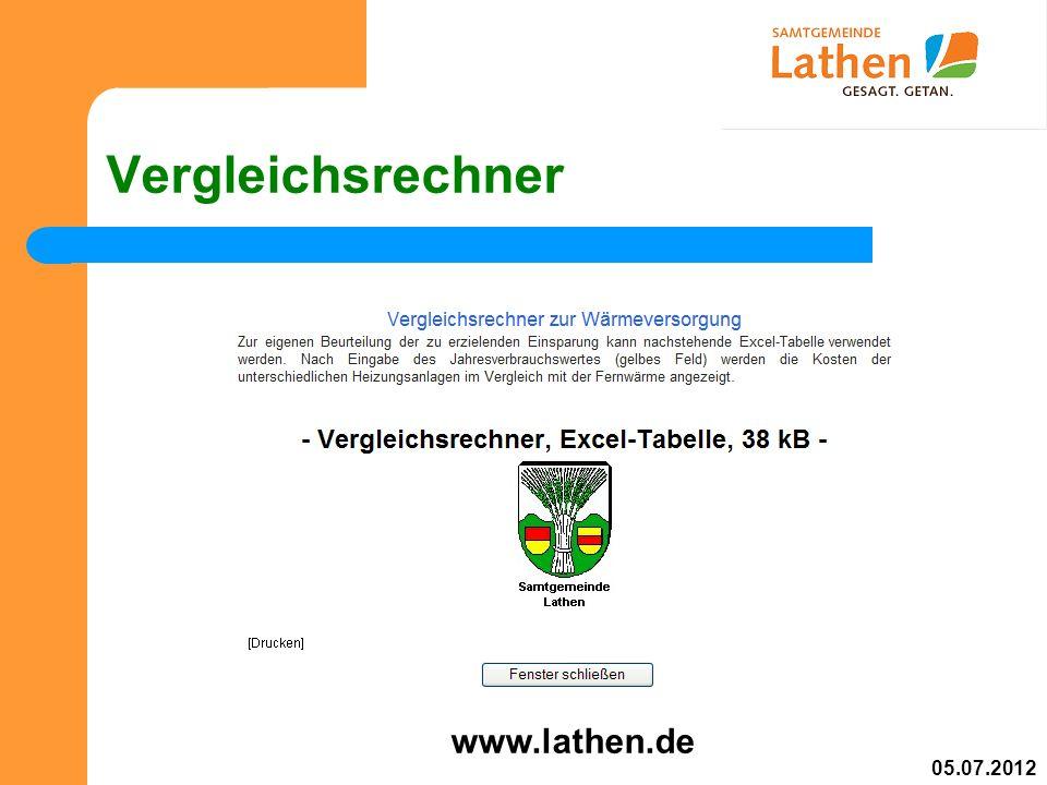 Vergleichsrechner www.lathen.de 05.07.2012