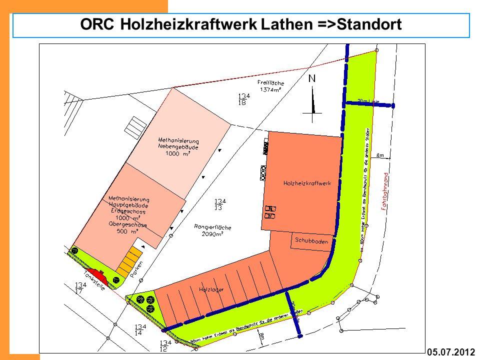 ORC Holzheizkraftwerk Lathen =>Standort 05.07.2012