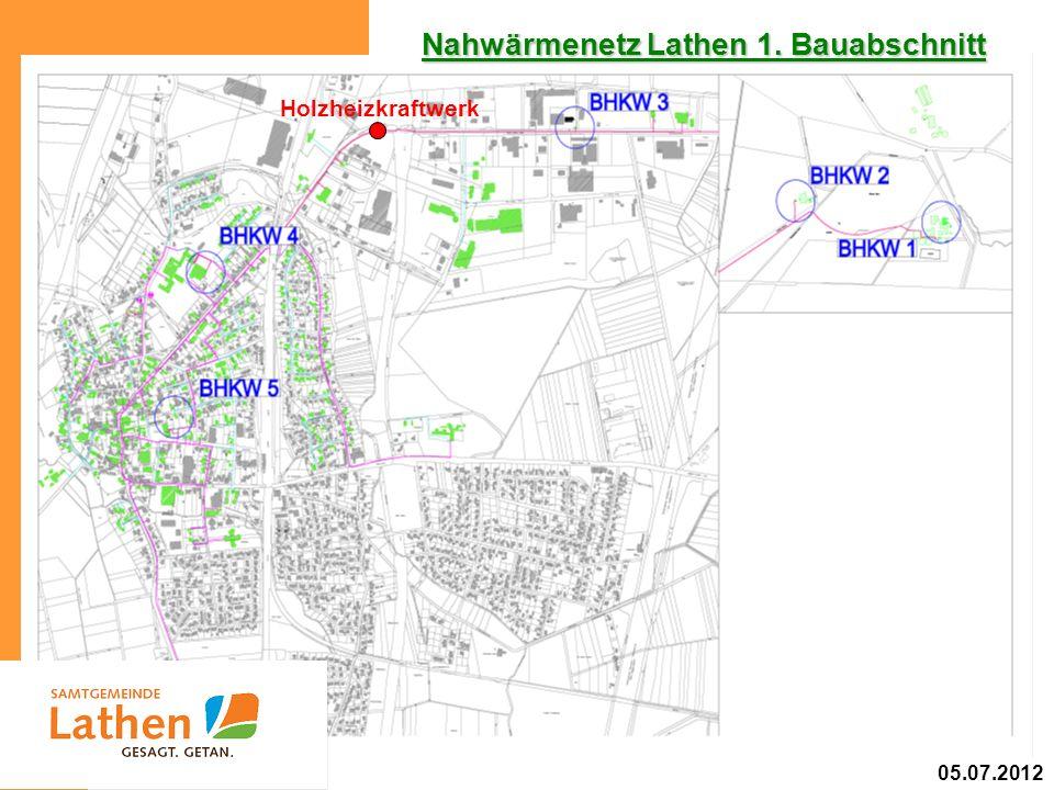 Nahwärmenetz Lathen 1. Bauabschnitt Holzheizkraftwerk 05.07.2012
