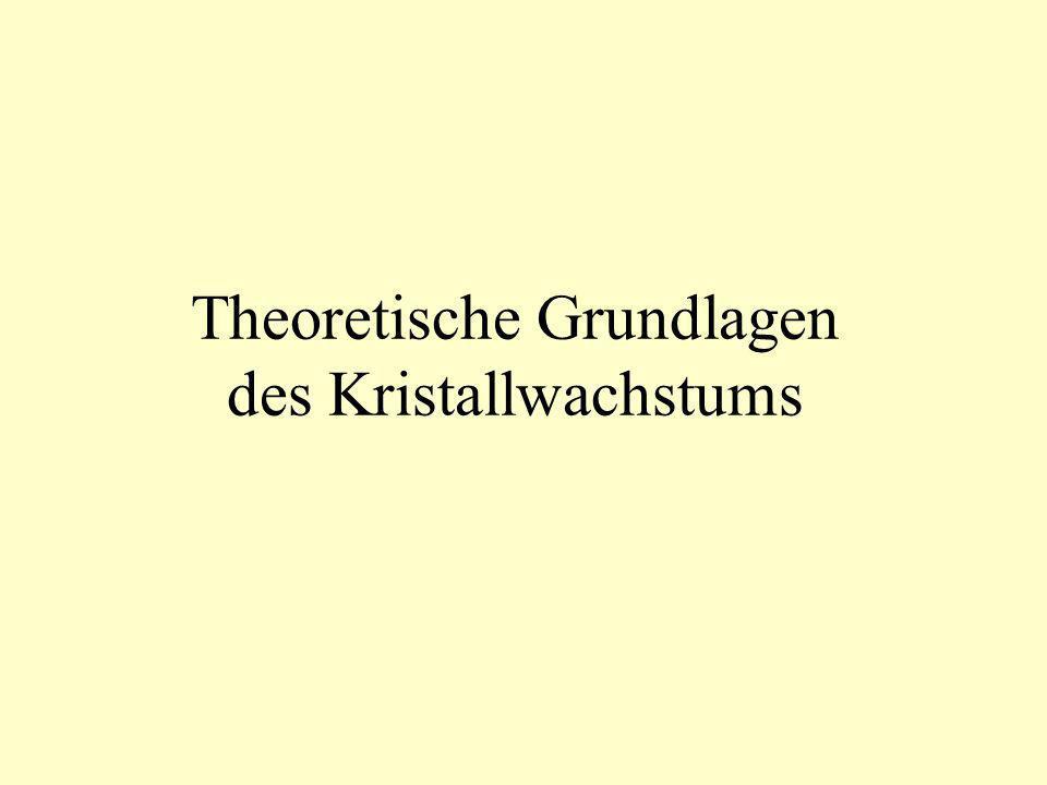 Theoretische Grundlagen des Kristallwachstums