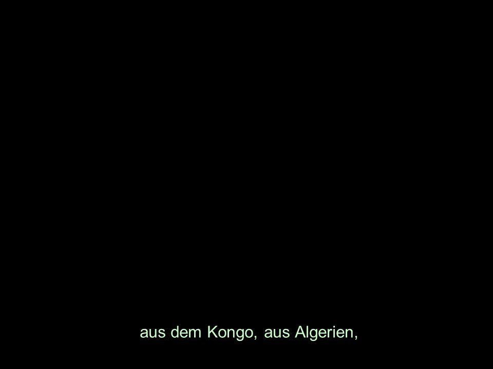 aus dem Kongo, aus Algerien,