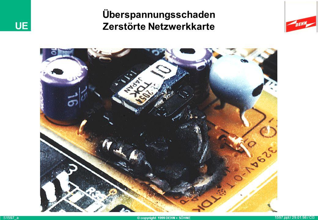 © copyright 1999 DEHN + SÖHNE UE Überspannungsschaden S1568c 1568.ppt / 14.10.97 / OB