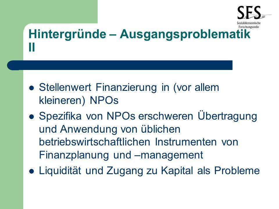 Hintergründe – Ausgangsproblematik III Herausforderungen: Finanzierungsalternativen Möglichkeiten zur Fremd- und Zwischenfinanzierung Lösungsmodelle bewerten, Erfahrungen nutzen, eigene Optionen reflektieren