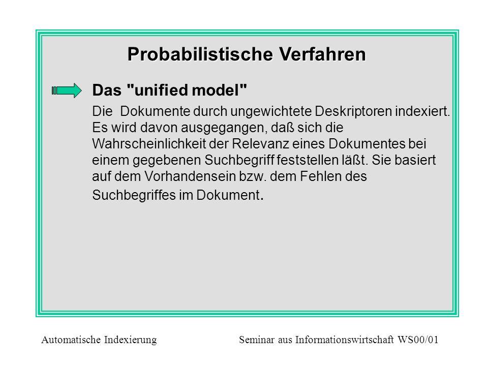 Probabilistische Verfahren Das
