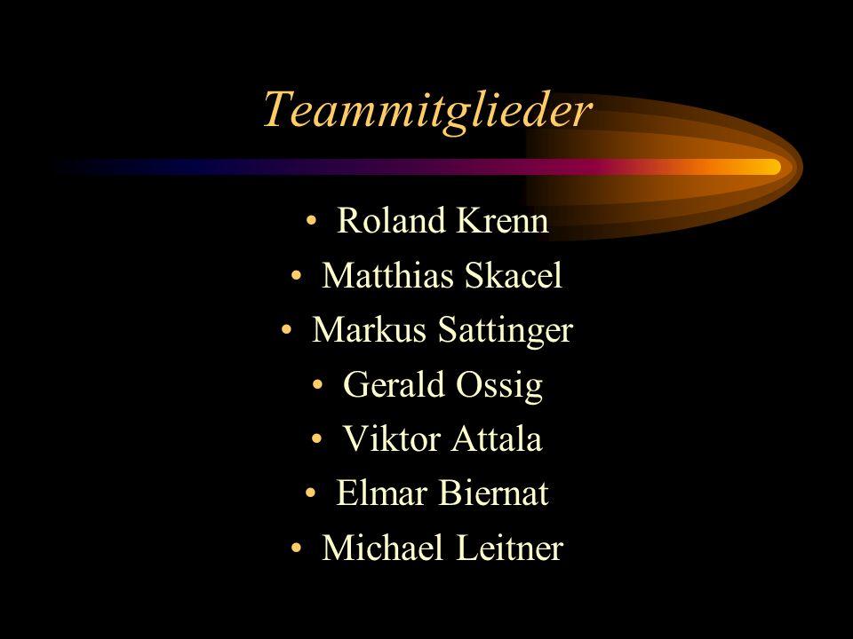 Teammitglieder Roland Krenn Matthias Skacel Markus Sattinger Gerald Ossig Viktor Attala Elmar Biernat Michael Leitner