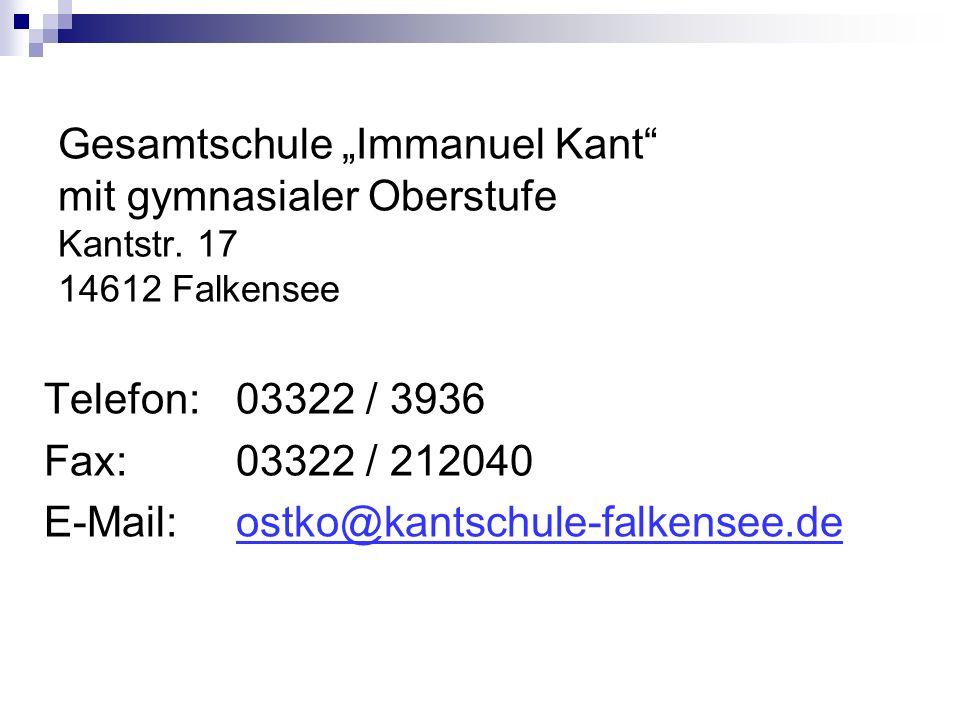 Gesamtschule Immanuel Kant mit gymnasialer Oberstufe Kantstr.
