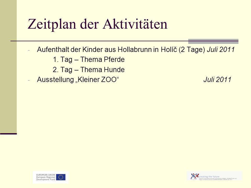 Zeitplan der Aktivitäten - Aufenthalt der Kinder aus Hollabrunn in Holíč (2 Tage) Juli 2011 1.