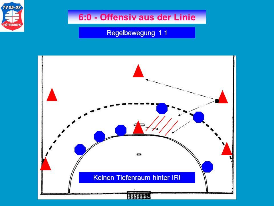 6:0 - Offensiv aus der Linie Regelbewegung 1.2 KM zwischen IL -3 & IR-4.
