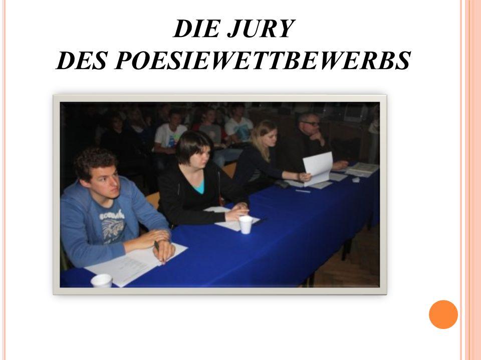 DIE JURY DES POESIEWETTBEWERBS