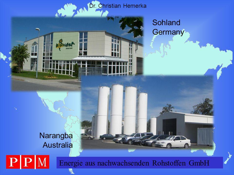 Energie GERMANY GmbH Dr. Christian Hemerka Energie aus nachwachsenden Rohstoffen GmbH Narangba Australia Sohland Germany