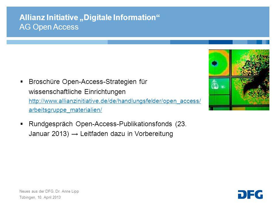 Allianz Initiative Digitale Information Broschüre Open-Access-Strategien für wissenschaftliche Einrichtungen http://www.allianzinitiative.de/de/handlu