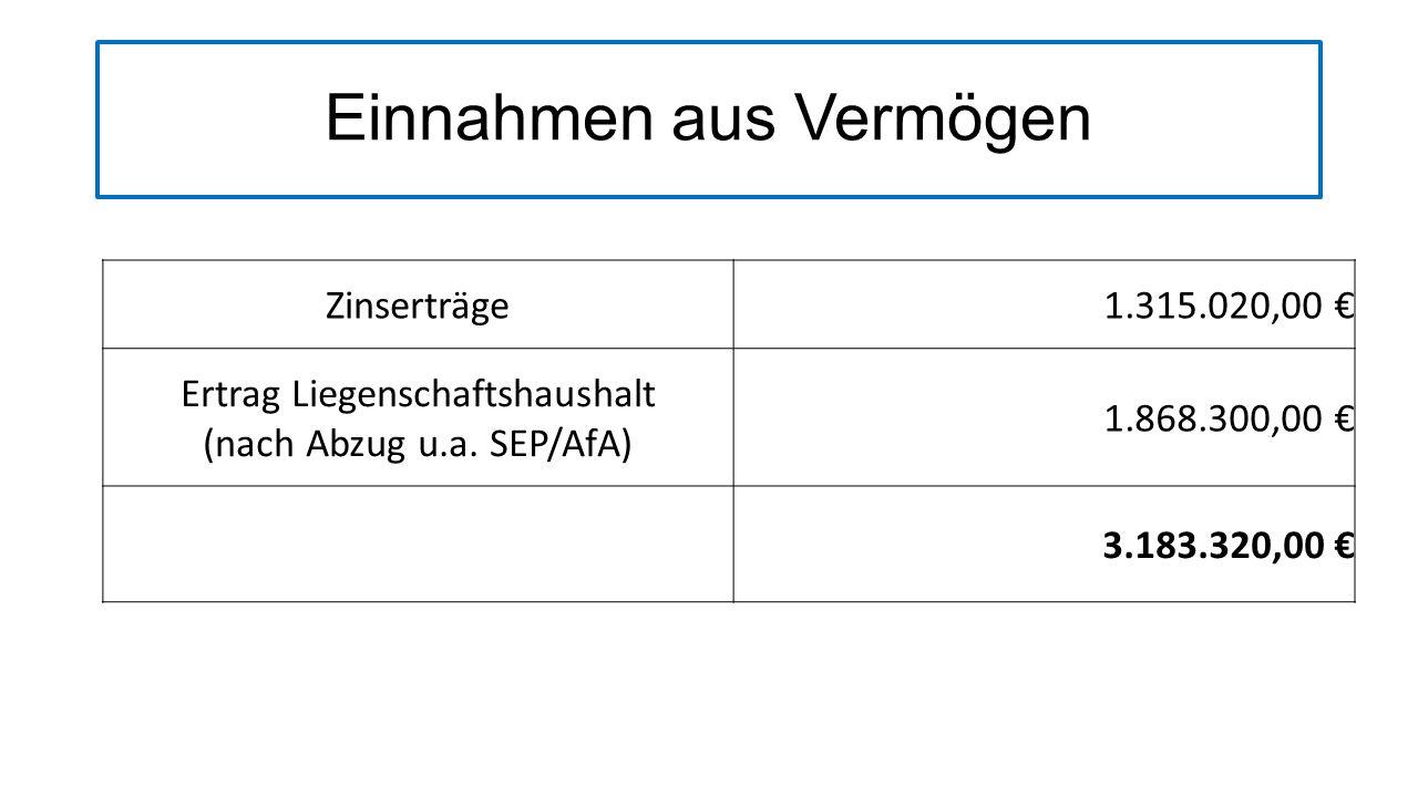 Einnahmen aus Rücklagen Rücklagenentnahme300.989,00