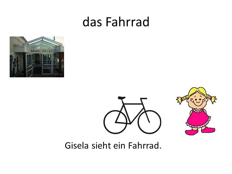 das Fahrrad Gisela sieht ein Fahrrad.