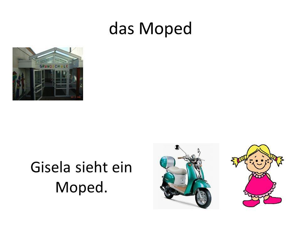 das Moped Gisela sieht ein Moped.