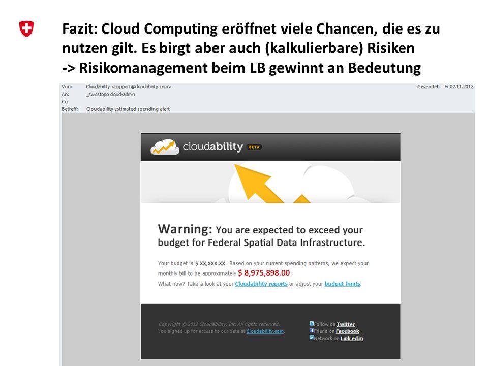 11 Hanspeter Christ swisstopo geo.admin.ch: Agilität und Performance aus der Public Cloud Workshop «Cloud Computing in Bildung und Forschung», Diensta