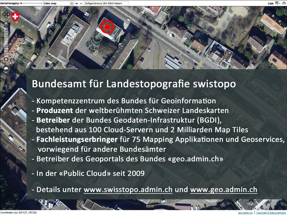 3 Hanspeter Christ swisstopo geo.admin.ch: Agilität und Performance aus der Public Cloud Workshop «Cloud Computing in Bildung und Forschung», Dienstag