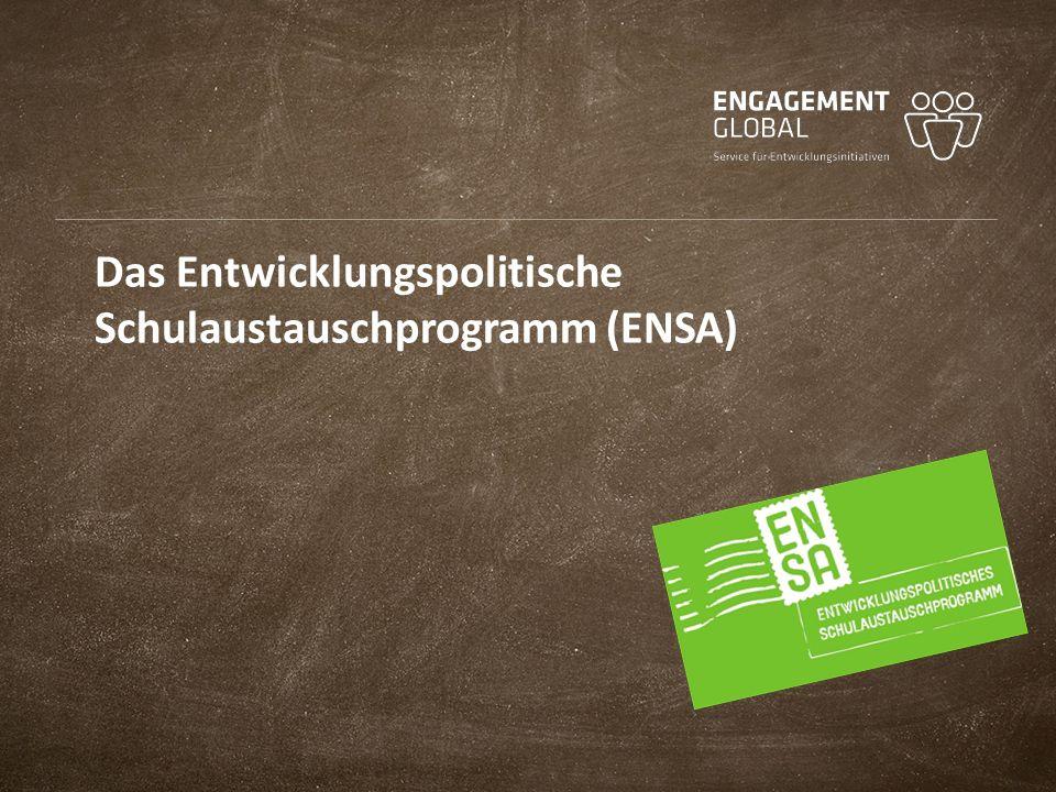 Das Entwicklungspolitische Schulaustauschprogramm (ENSA)