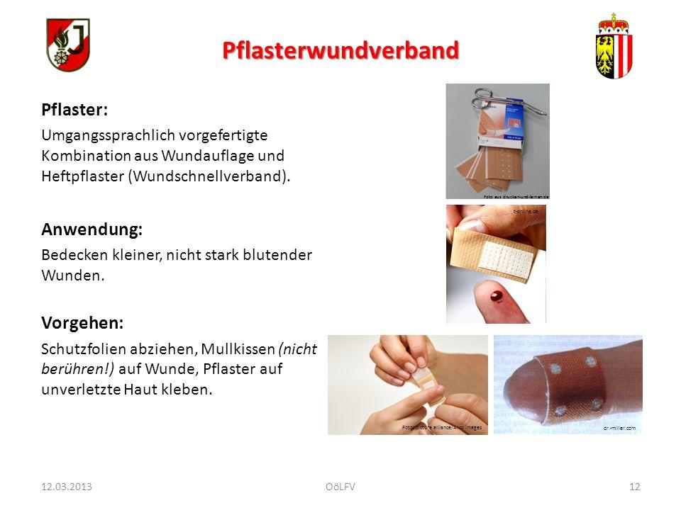 Pflasterwundverband Pflaster: Umgangssprachlich vorgefertigte Kombination aus Wundauflage und Heftpflaster (Wundschnellverband). Anwendung: Bedecken k