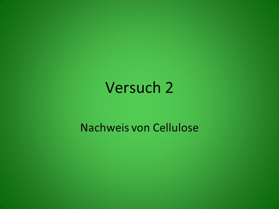 Versuch 2 Nachweis von Cellulose