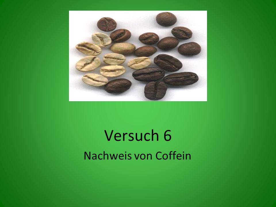 Versuch 6 Nachweis von Coffein