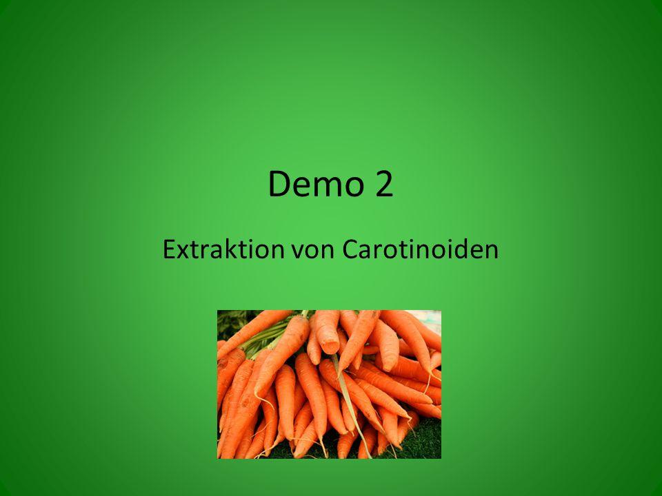 Demo 2 Extraktion von Carotinoiden