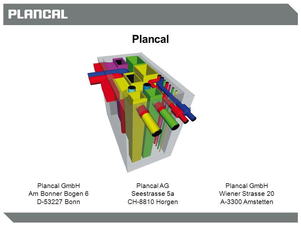 Plancal Plancal GmbH Am Bonner Bogen 6 D-53227 Bonn Plancal AG Seestrasse 5a CH-8810 Horgen Plancal GmbH Wiener Strasse 20 A-3300 Amstetten