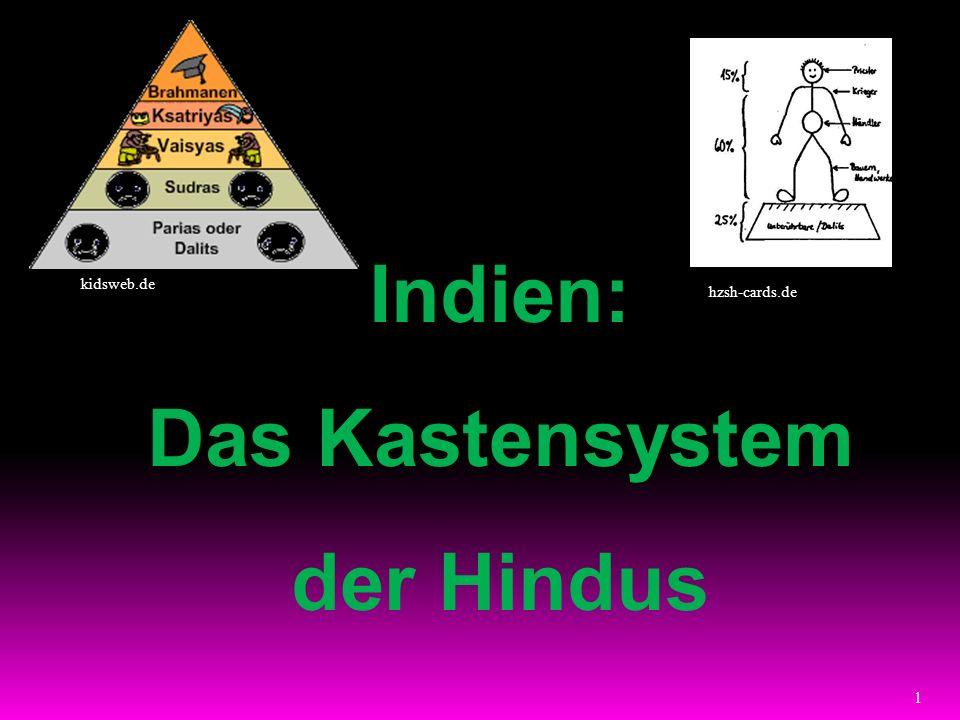 1 Indien: Das Kastensystem der Hindus hzsh-cards.de kidsweb.de